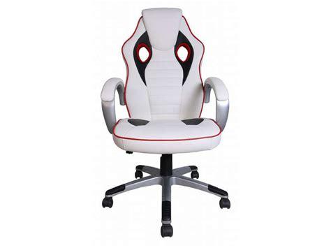 fauteuil de bureau conforama fauteuil de bureau f1 coloris blanc et noir vente