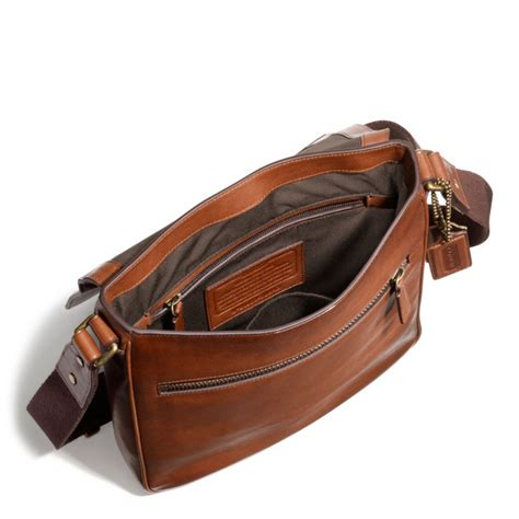 The Coach Bleecker Tattersall Shopping Bag by Coach Bleecker Map Bag In Leather In Brown For Lyst