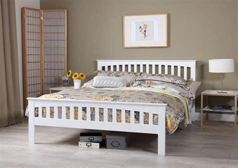 White Bed Frames Uk Serene Amelia Opal White Bed Frame