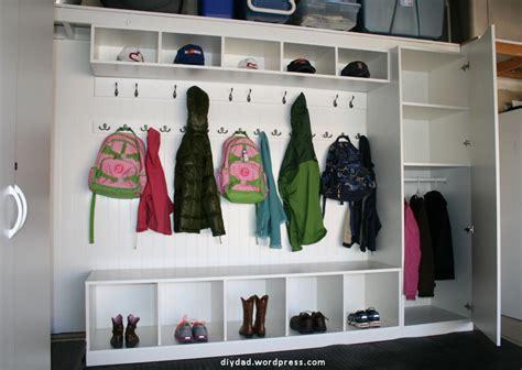 garage coat and shoe storage garage mud room diy