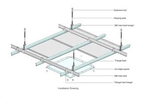 Ceiling Tile Suspension Framing Aluminum Ceiling Panel Suspended Metal Ceiling Buy