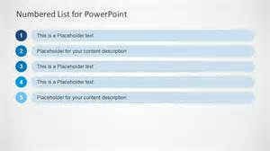 Powerpoint List Templates Numbered List Template For Powerpoint Slidemodel