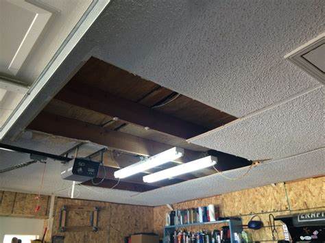 Garage Ceiling by Garage Ceiling Overhaul Drywall To Plywood