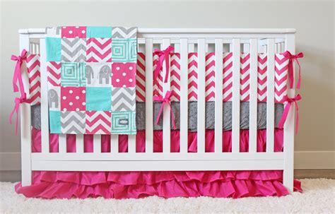 pink and teal crib bedding girl crib bedding elephant baby girl bedding pink gray
