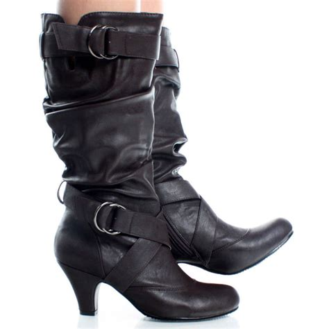 casual boots womens s mid calf winter worm dress casual boots 79 ebay