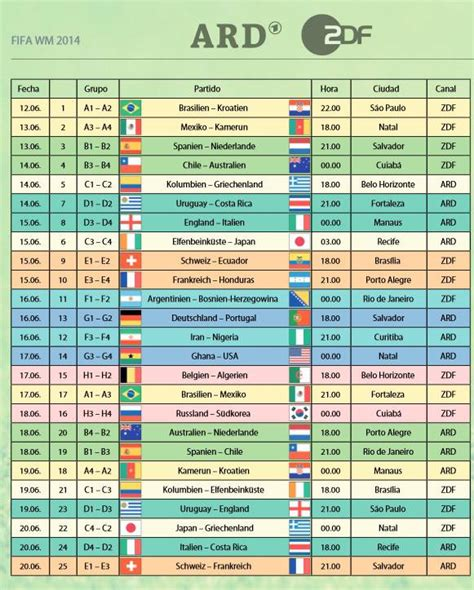 Calendario Mundial Calendario Mundial De Brasil En Abierto Por Ard Y Zdf