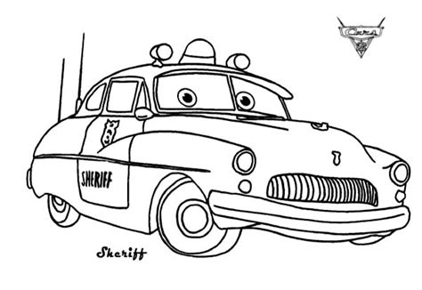 cars dj coloring pages cars sheriff from disney cars coloring page