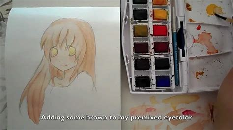tutorial watercolor anime tutorial manga anime skin hair and eyes with watercolors