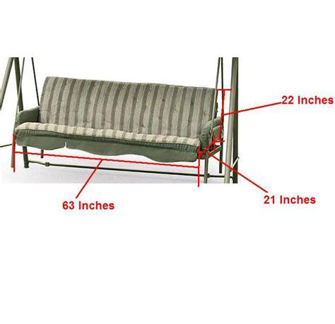 walmart swing cushion replacement walmart seacliff swing replacement seat cushion rus487k