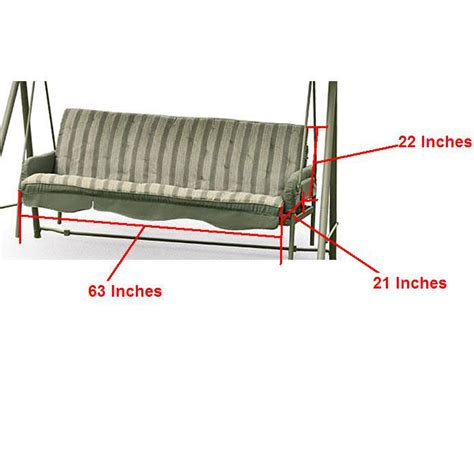 3 Seat Canopy Swing Replacement Cushions Home And Garden