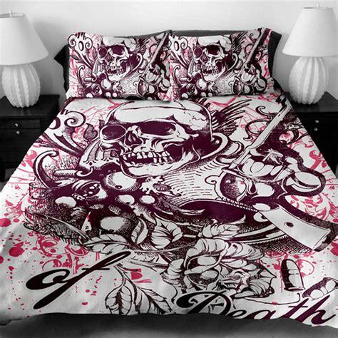 skull bedding king size fanaijia 3d printed skull bedding set king size sugar