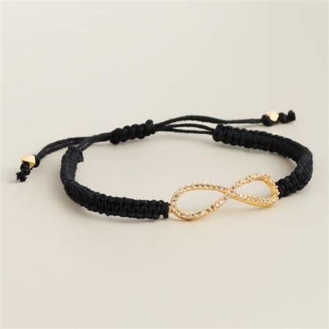 gold pave infinity friendship bracelet world market