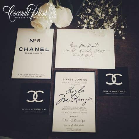 coco chanel wedding invitations black white quot coco chanel inspired bridal shower