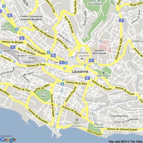 lausanne city map map of lausanne switzerland hotels accommodation