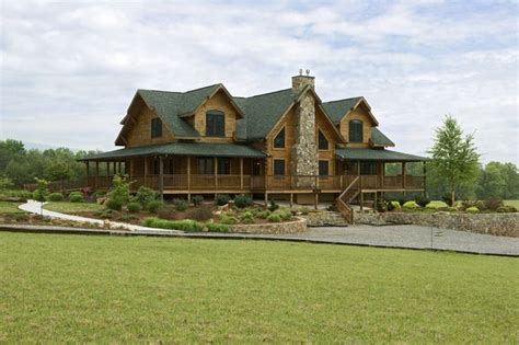 love this porch log cabin lodge pinterest love log houses wrap around porches just like it