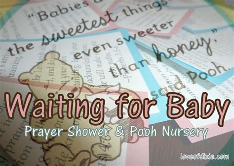 Opening Prayer For Baby Shower by Waiting For Baby Prayer Shower And Pooh Nursery Of