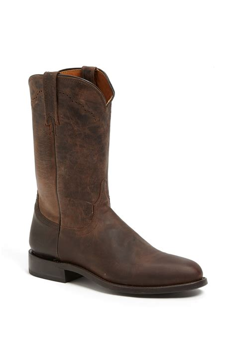 lucchese mens roper boots lucchese goat roper argyle stitch leather boot in