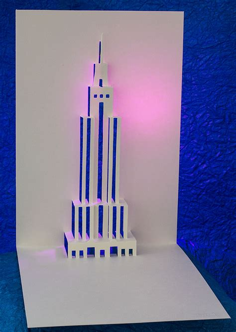 Pop Up Cards Templates Ifle Tower by Empire State Building Pop Up Card Popup Card Shop