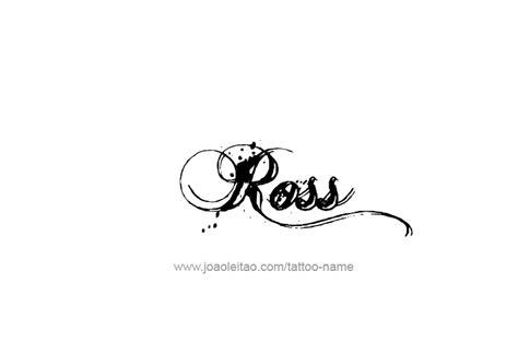 ross tattoos ross name designs