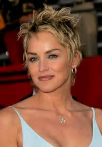 Picture of sharon stone latest hairstyle layered tousled short pixie