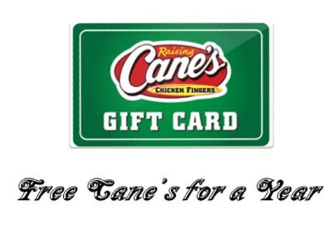 Raising Canes Gift Card - www raisingcanes com survey win free cane s for a year in raising cane s guest