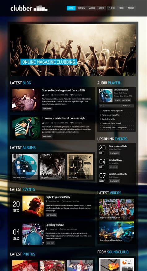 themes wordpress music 15 best music wordpress themes mythemes4wp