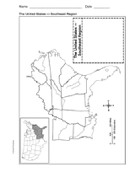 printable map of the southeast united states blank map southeast region