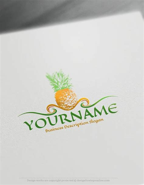Home Design Online create a logo free pineapple logo template