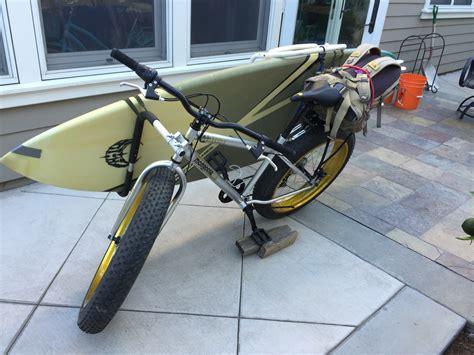 Removable Bike Rack by Removable Longboard Surfboard Bike Rack Storeyourboard