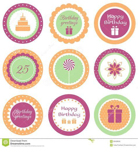 Stok Terbatas Customized Cake Topper birthday cupcake toppers stock vector image 39428039