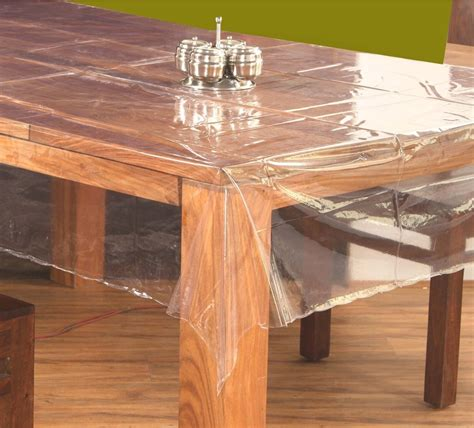 clear plastic table top clear transparent table cover oval
