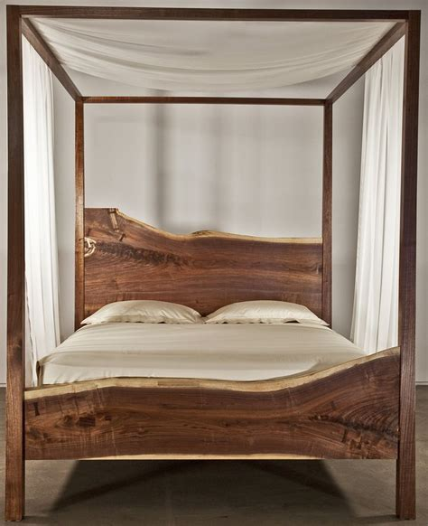 Canopy Bed Top Frame Wood Canopy Bed Frame Home Design