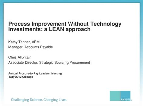 process improvement without technology investments