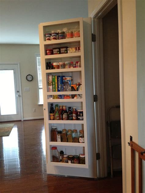 pantry door shelf organization