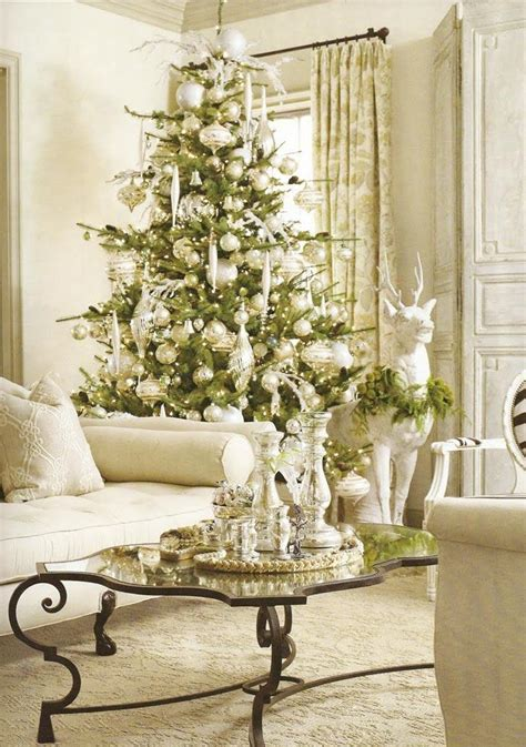 Living Room With Tree How To Decorate For The Holidays With A Theme Bruzzese