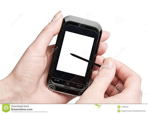 Tensi Abntm Clock Mobile Model with a mobile phone in his stock photos image models picture