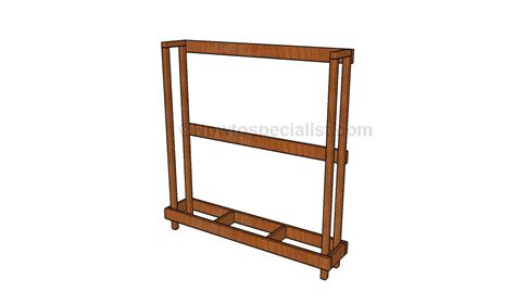 Build A Rack by How To Build A Firewood Rack Howtospecialist How To