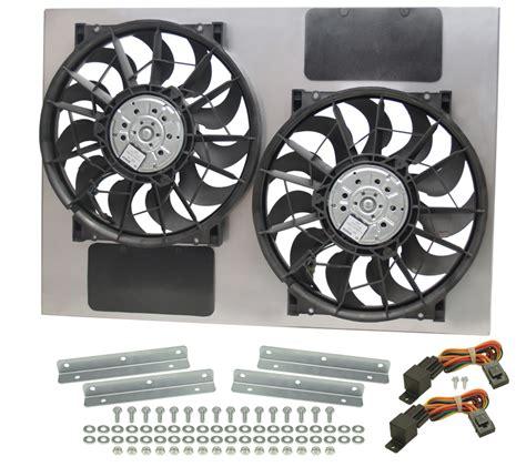 high output computer fan derale 16927 dual high output rad fan