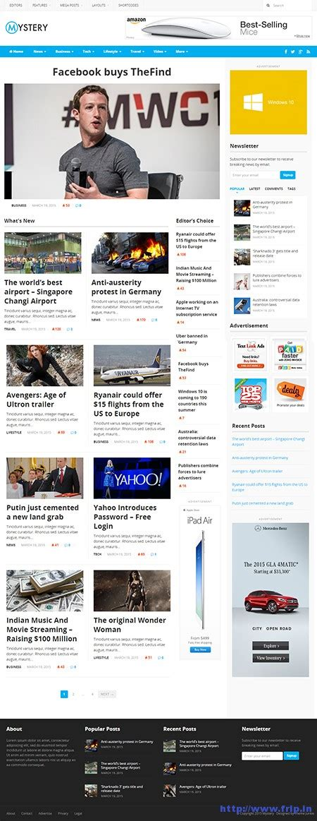 theme junkie newspaper download theme junkie mystery newspaper style wordpress theme frip in