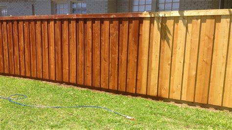 stained   cedar wood fence youtube