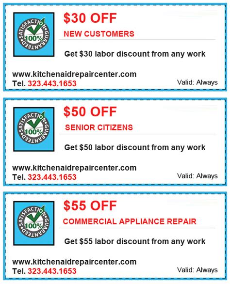 Kitchenaid Parts Coupon Code Specials Coupons Kitchen Aid Appliance Repair Los Angeles