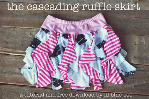 t shirt ruffle skirt pattern a cascading ruffle skirt a tutorial and free download