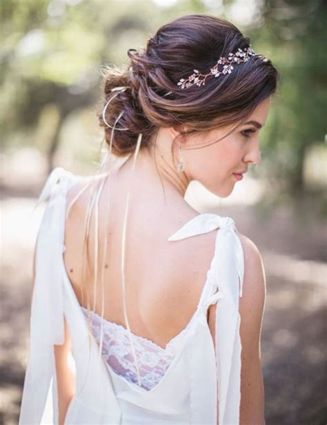 casual hairstyles with accessories 26 chic messy chignon wedding hairstyles weddingomania