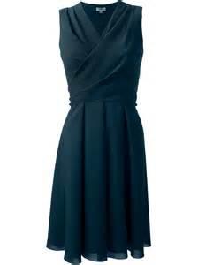 wrap around kenzo wrap around dress in blue lyst