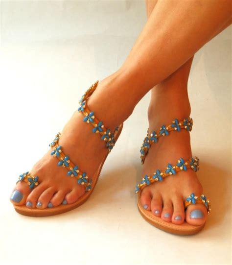 blue flat sandals for wedding wedding sandals ariadne wedding sandals flat wedding