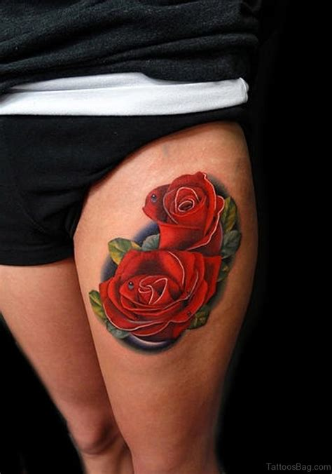 rose tattoo on thigh 70 impressive tattoos for thigh