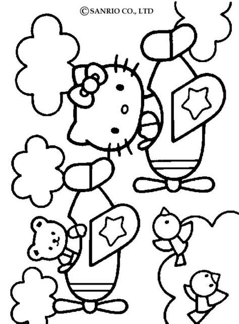 coloring pictures of hello kitty and her friends hello kitty coloring pages hello kitty and friends