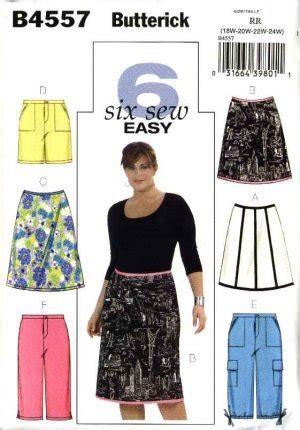 butterick sewing pattern 4557 womans plus size 18w 24w