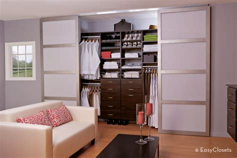 modern bedroom closet modern closet organization by easyclosets