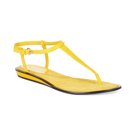 nine west sandals nine west venga sandals in yellow lyst